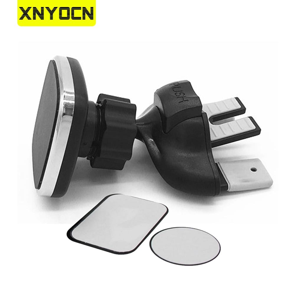 Xnyocn Magnetic Holder Car CD Slot Air Vent Mount Stand Cell Phone Bracket Universal Adjustable Mobi
