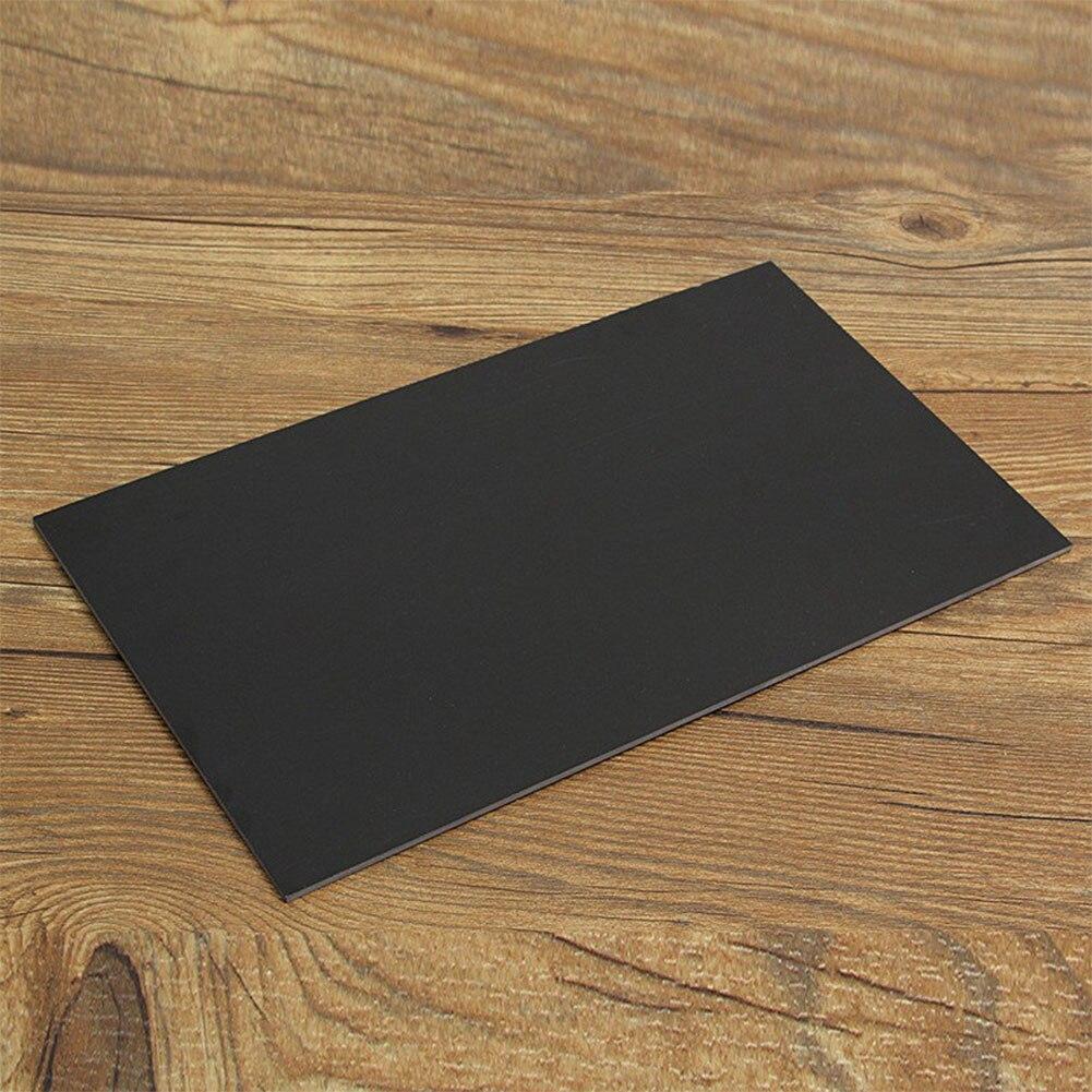 Glasfasergasbehälter Bord Schule Fiberglas Platte Vorlage Schwarz Epoxy Glas Tragbare Handwerk Liefert Hause DIY Durable Blatt Einzigen Seite