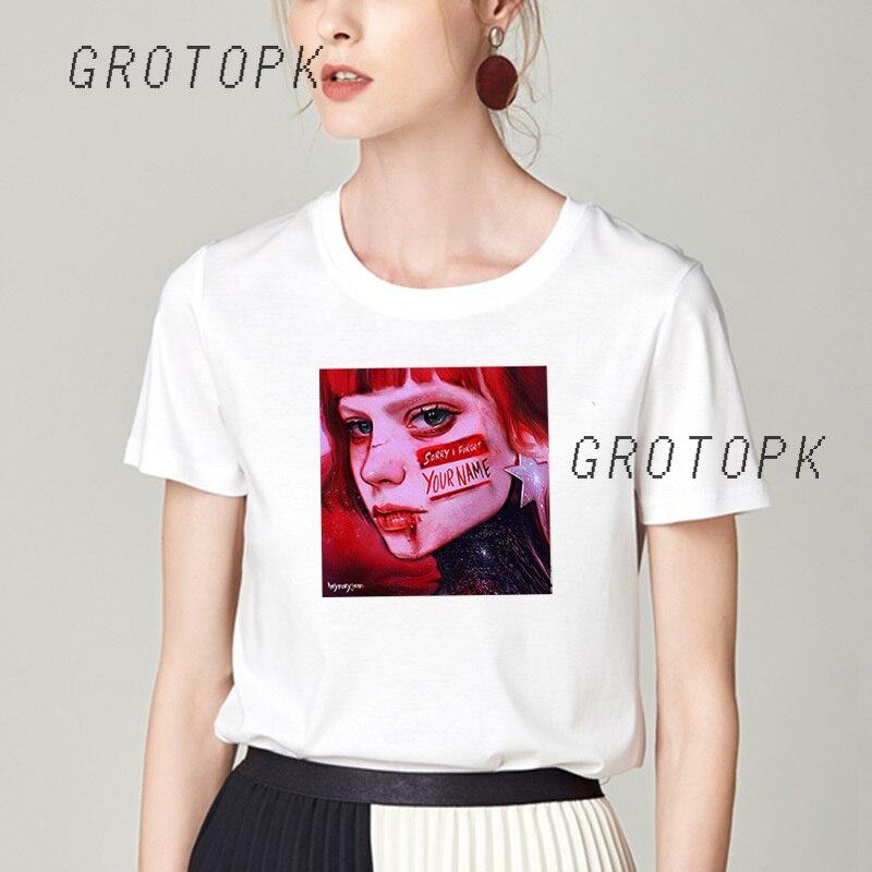 Camiseta femenina Harajuku camiseta mujer gótico esperanza mundo ropa camiseta Hipster manga corta Camiseta Hip Hop Top camisas