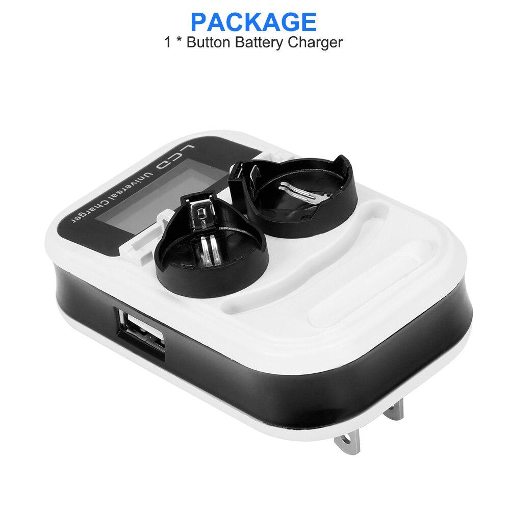 2 слота Кнопка зарядное устройство для LIR2016/LIR2025/LIR2032/ML2016/ML2025/ML2032 индикатор интеллектуальная подзарядка зарядное устройство