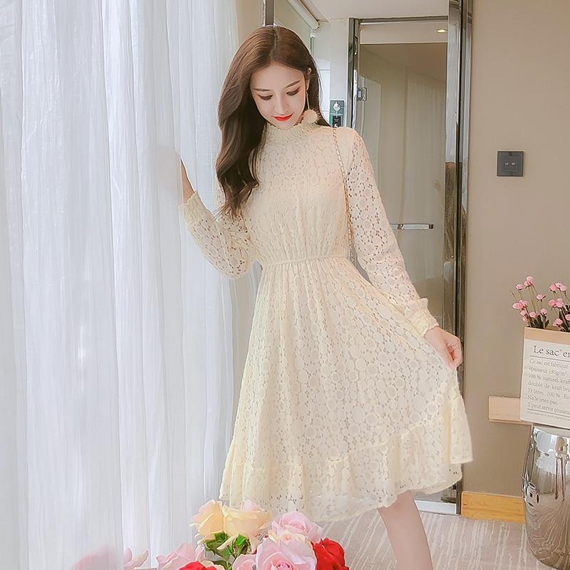 Novo bonito vestido feminino rendas exceder o departamento de fadas render vestidos longos rosa damasco 1697