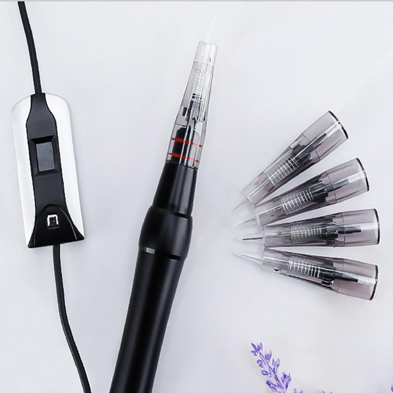 20 piezas 0.18R/0.25R/0.3R/0.35R/3R/5R/5F/7F agujas para BAO-002 máquina de tatuaje para maquillaje permanente cejas labio