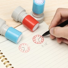Clock Stamp Teaching Tools Multiple Style Seal for Kids Learning the Watch Student Teaching Tools Se