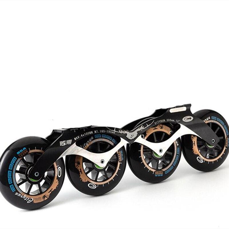 1 par 4x110mm 4x100mm 4x90mm velocidade inline patins quadro com 110mm 100mm 90mm velocidade patinação roda base combinação ct cityrun