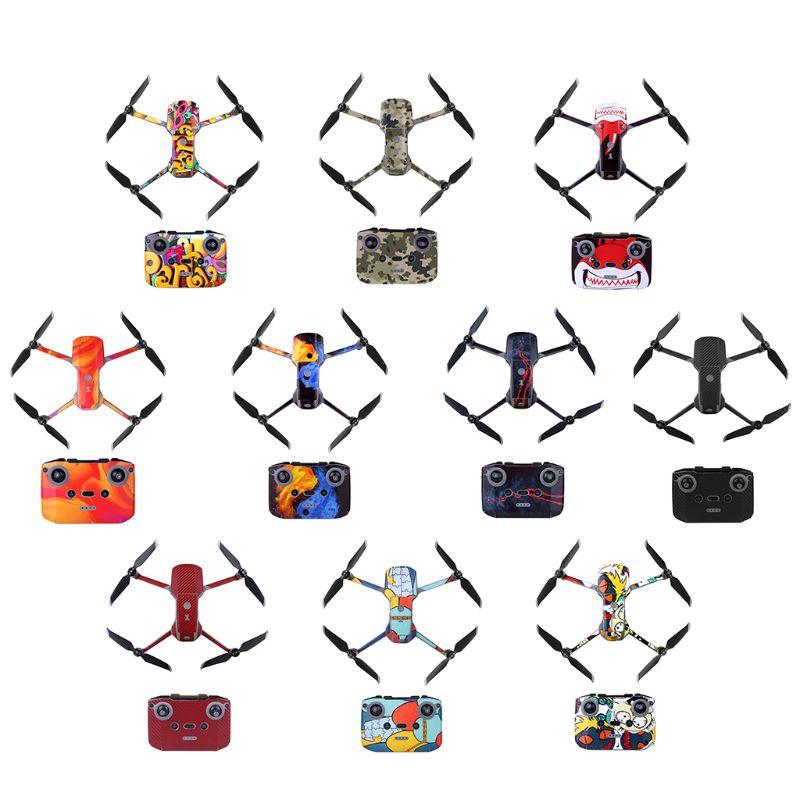 1 conjunto impermeável pvc adesivos arte decalque película protetora para dji mavic ar 2 drone x6hb