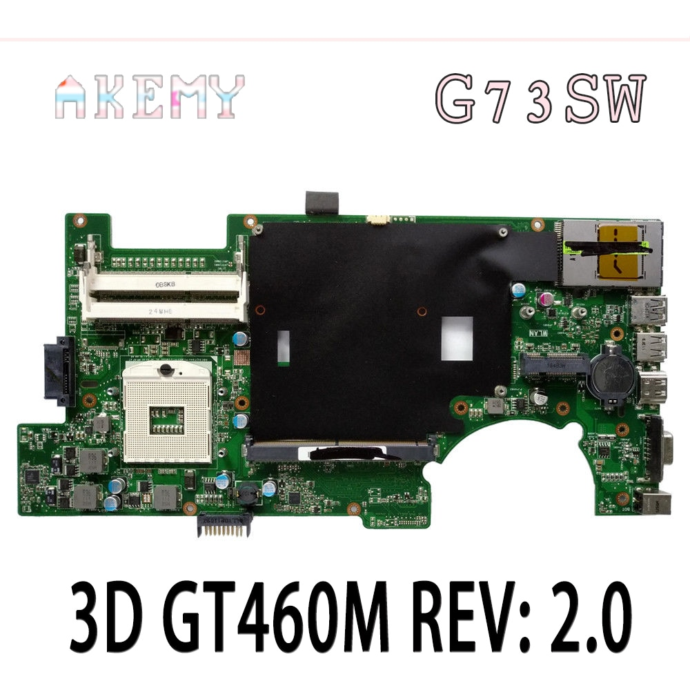 G73SW Motherboard 4 SLOTS 3D GT460M REV 2.0 HM65 Para For Asus G73SW G73S G73 Laptop motherboard Mainboard G73SW G73SW Motherboard