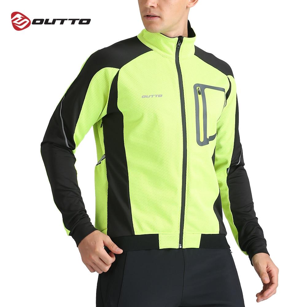 Мужская теплая зимняя водонепроницаемая велосипедная куртка Outto, ветровка с длинными рукавами для велоспорта и поездок на горных велосипед...