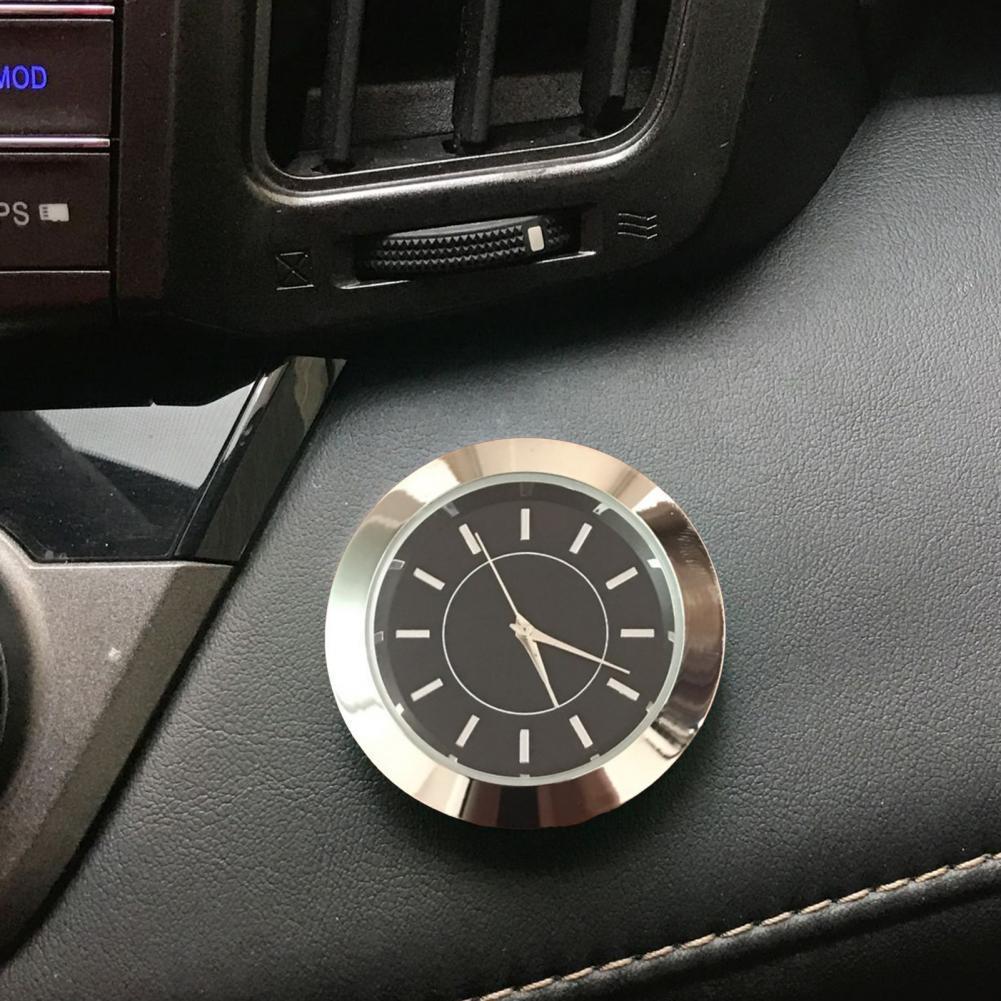 Автомобильные самоклеящиеся электронные часы, украшение интерьера, круглые цифровые мини-часы для украшения автомобиля, часы в АС