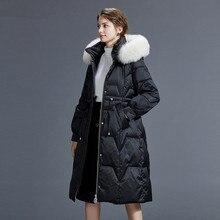 Réel renard fourrure col doudoune hiver Manteau femmes vêtements 2020 coréen Long Manteau Femme chaud Parka Manteau Femme Y864