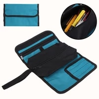 portable hand tools storage bag canvas toll roll bag case for spanner wrench screwdrivers multi organizer fold up 36x25cm