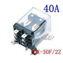 Jqx-30f/2z se corriente eléctrica 30th de alta potencia 12v 12v relé de 24 V 220 v Ljqx-40f-2z 40a