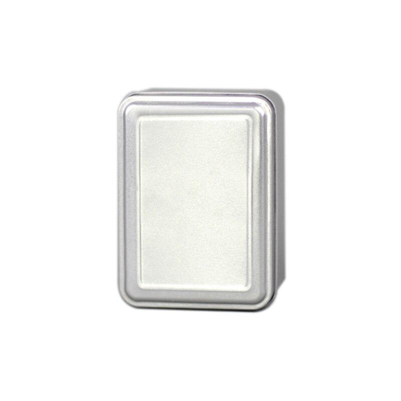 Xin Jia Yi caja de lata de Color plateado con tapa en relieve transparente gran oferta caja de lata de aluminio 11X8 cajas grandes de descuento