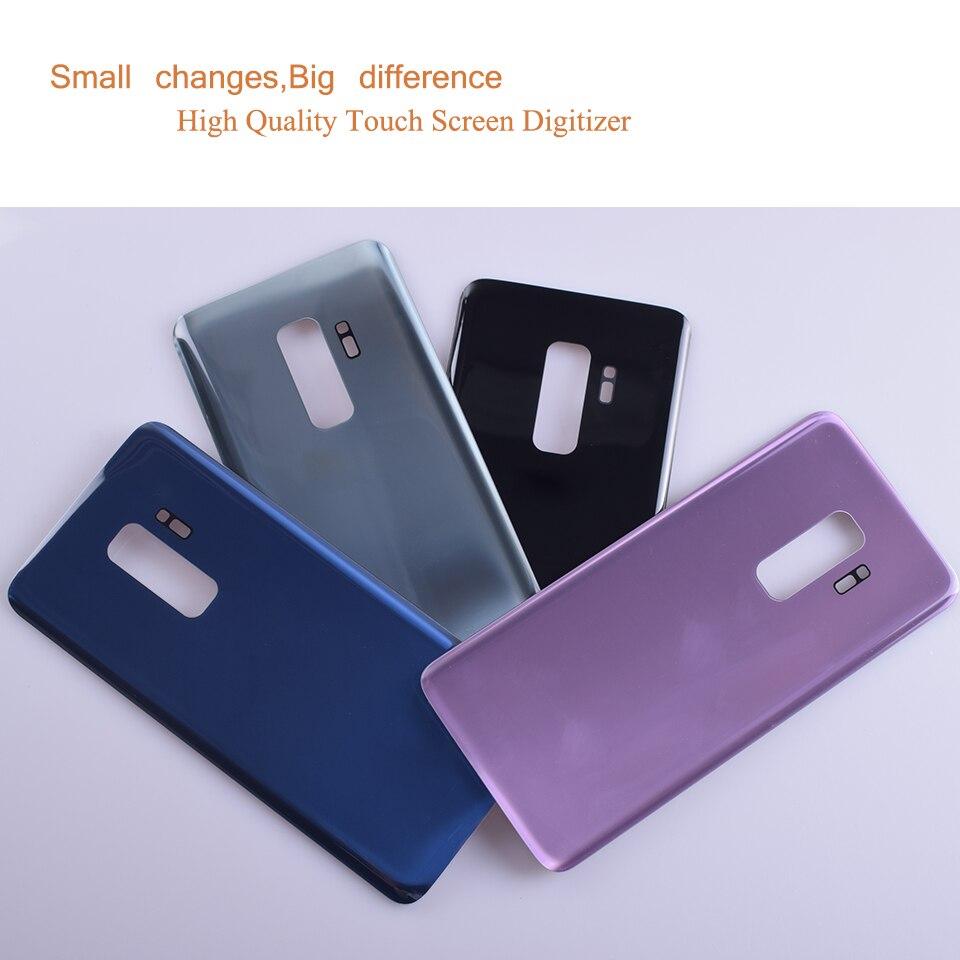 10 sztuk/partia dla Samsung Galaxy S9 + S9 Plus G965 G965F SM-G965F obudowa baterii tylna pokrywa przypadku tylna klapka obudowa