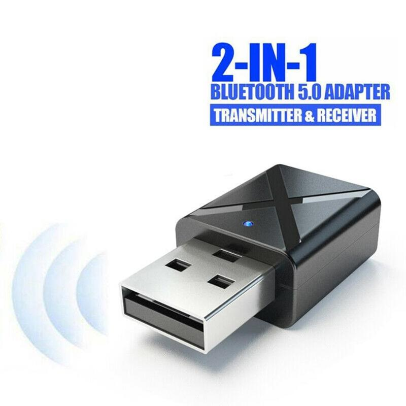 ALLOYSEED USB Bluetooth Adapter Dongle For Computer PC PS4 TV Mouse Aux Audio Bluetooth 5.0 Speaker Music Receiver Transmitter