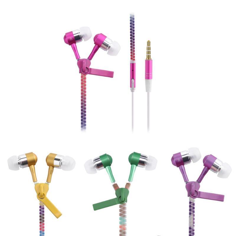 1 Uds auricular brillante con micrófono luz luminosa de audífonos con cremallera auriculares con caja de almacenamiento