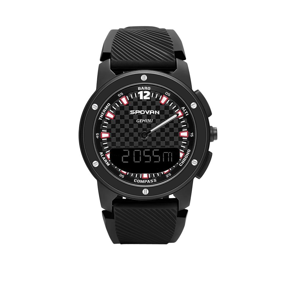 Reloj inteligente para hombre, brújula analógica Digital, doble horario, reloj con pantalla, altímetro deportivo inteligente para exteriores, barómetro, reloj a prueba de agua 50M