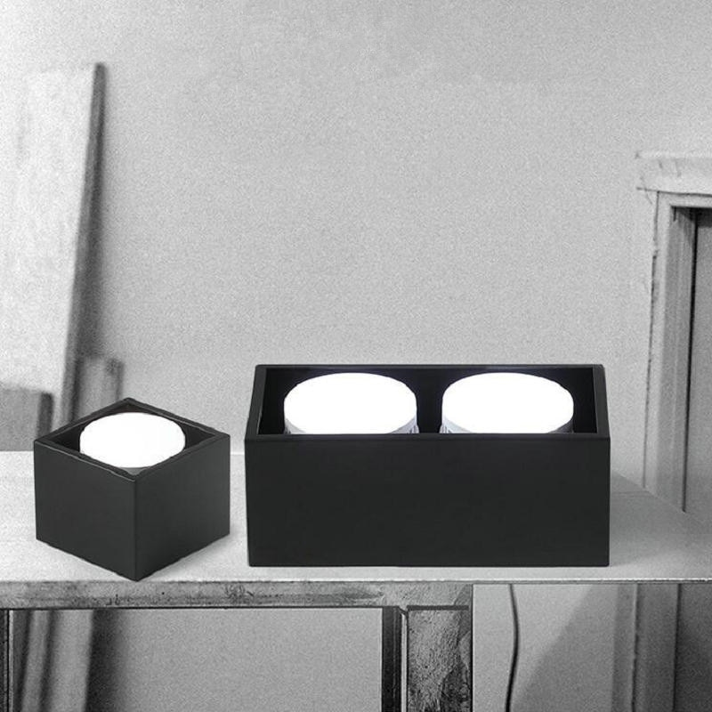 Doble cuadrado LED Downlight GX53 10W 12W 15W 24W mazorca LED del punto de luz LED lámpara de techo envío gratis 10 unids/lote