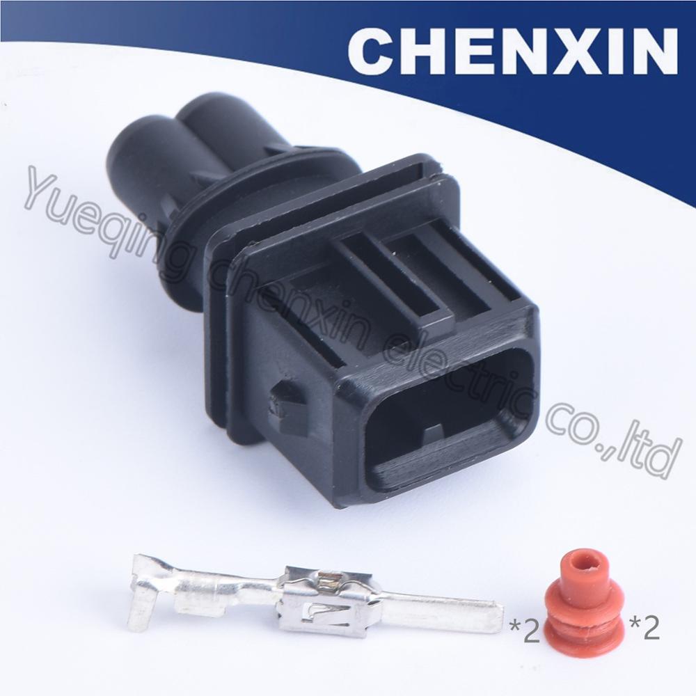 Черный 2-контактный разъем (3,5) папа 106462-1 топливный инжектор ремонтный разъем водонепроницаемый автоматический разъем