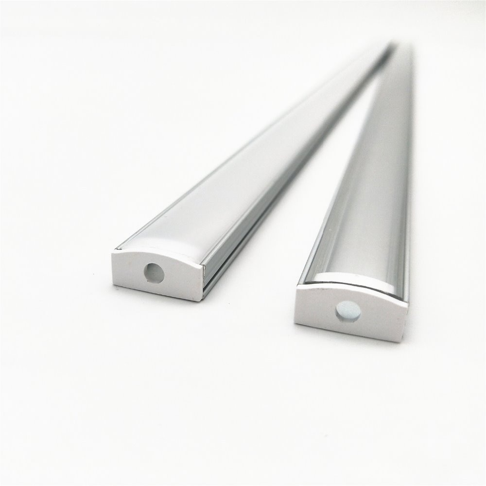 10-100 Stks/partij 40in 1 M Led Aluminium Profiel, 12 Mm Pcb 5050/3528 Strip Platte Aluminium Behuizing Mikly Cover Keuken, Kast, Kast