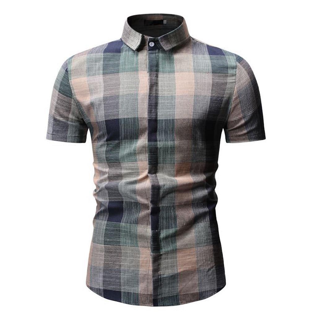 2019 men's fashion cultivate one's morality short sleeve men shirt printing man shirt in summer  Mar8