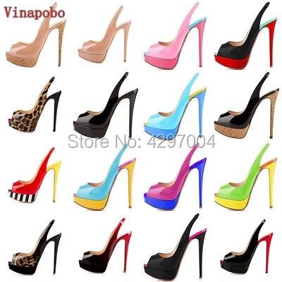 Vinapobo 2019 Summer Autumn Open Toe Shoes Woman Stiletto High Heels Fashion Platform Wedding Shoes Woman Dress Party Pumps