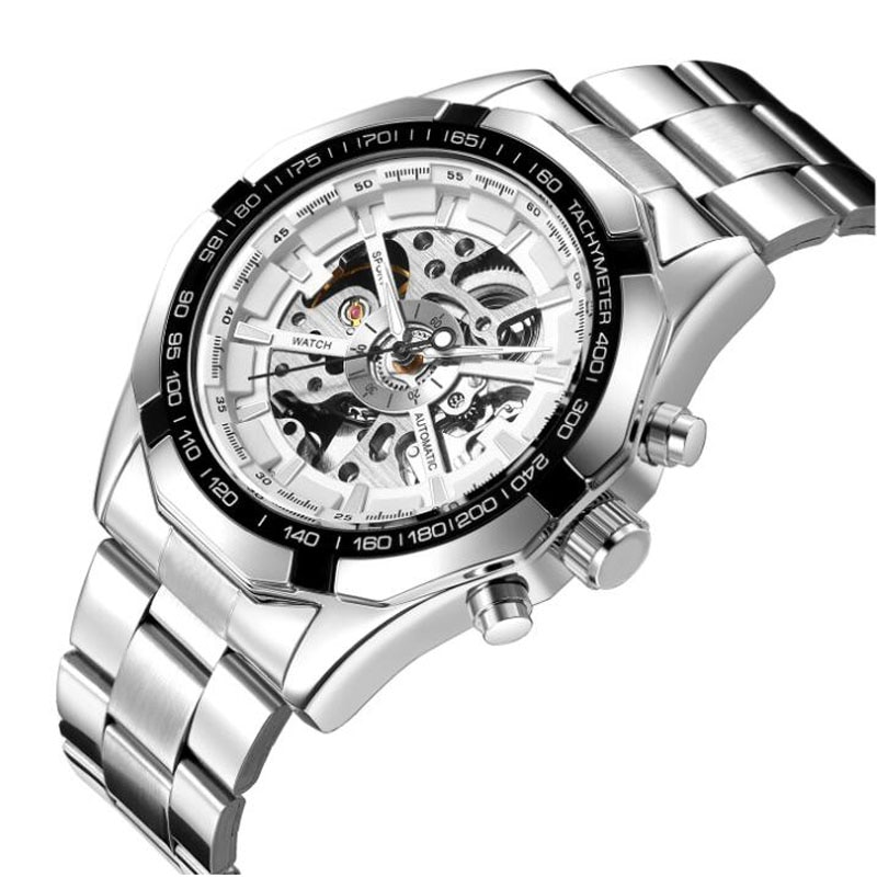 Men Watches Top Brand Luxury Fashion Skeleton Watch Men Automatic Mechanical Watches Stainless Steel