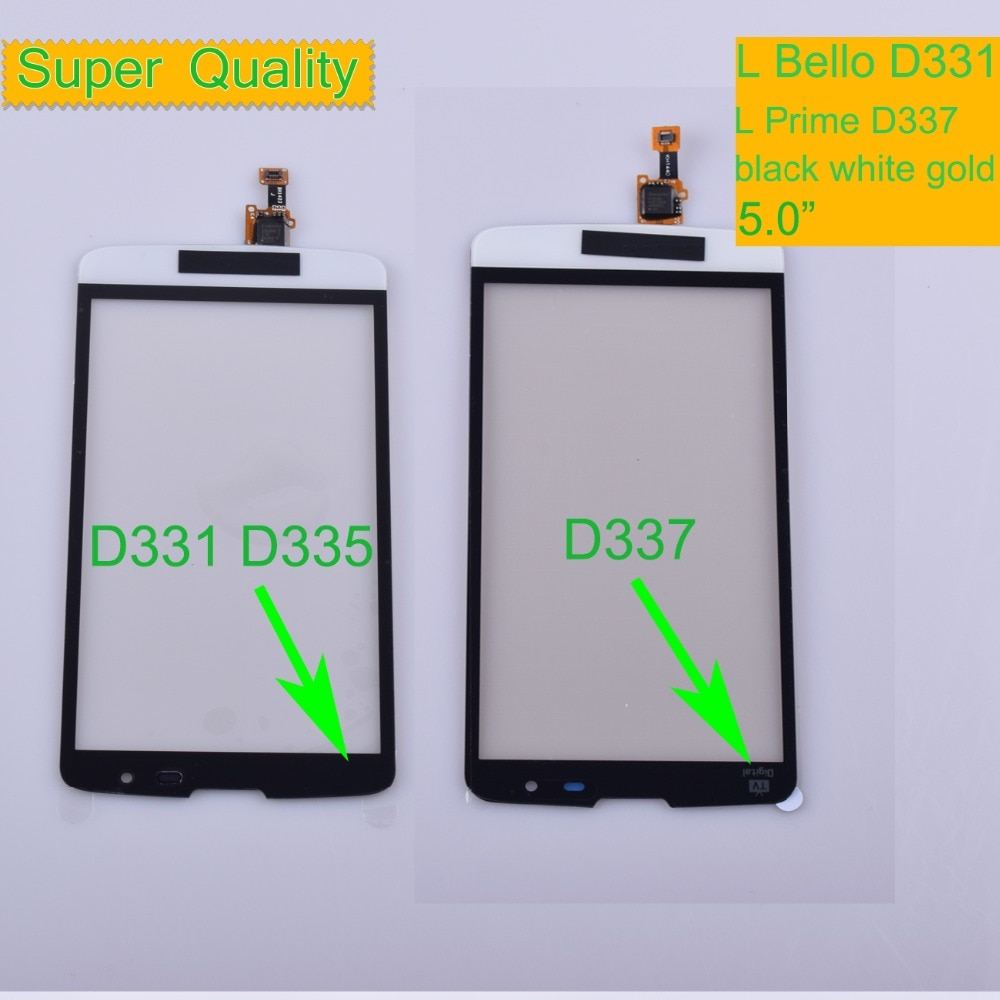 10Pcs/lot For LG L Bello D331 D335 Touch L Prime D337 TV Touch Screen Touch Panel Sensor Digitizer Front Glass Outer Touchscreen