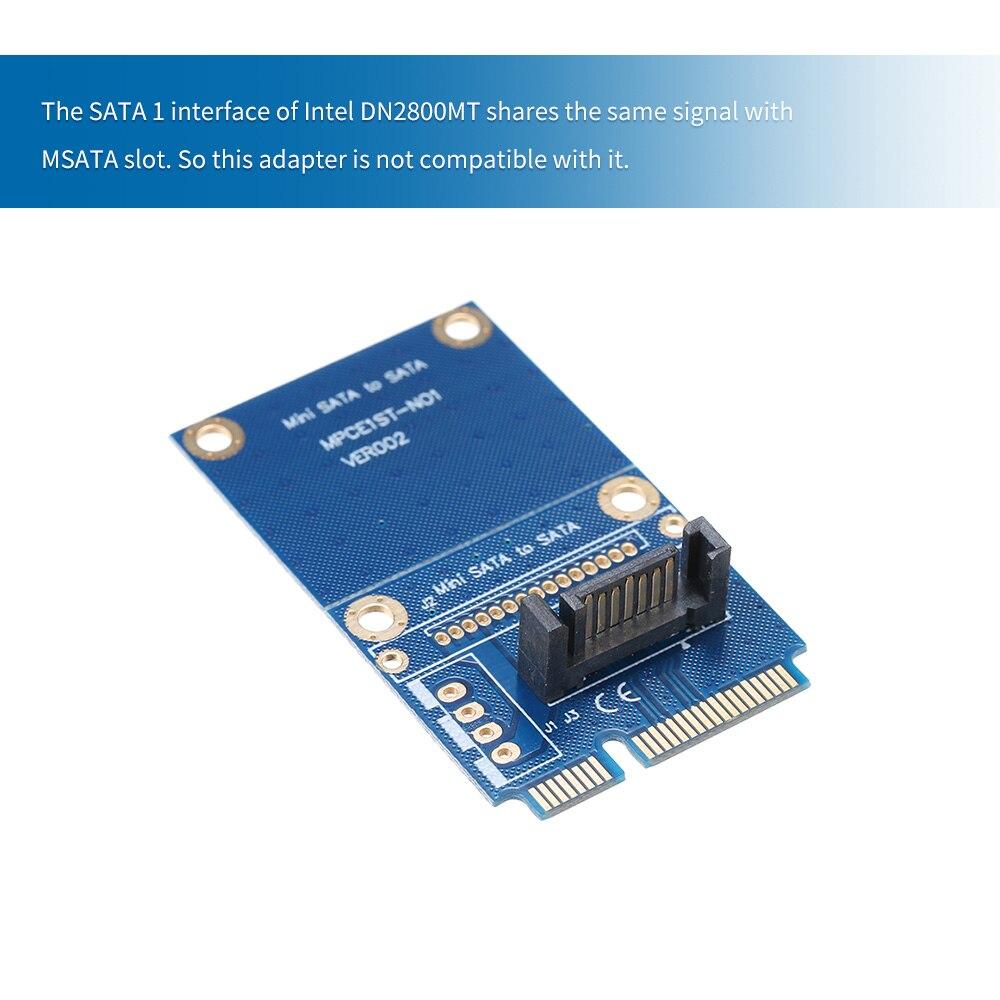 Msata para sata conversor mini sata para 7pin sata adaptador hdd pcie ssd disco rígido