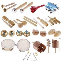 28 piezas de percusión instrumento Musical Maracas campana de mano tambor de Aprendizaje Temprano juguetes educativos regalo para niños pequeños niños