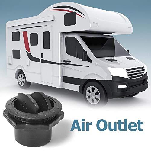 """Salida de aire Universal A/C, salida de ventilación de 60mm 2,35 """", salida de techo redonda, 360 °, ajustable para RV, autobús, yate-Negro"""