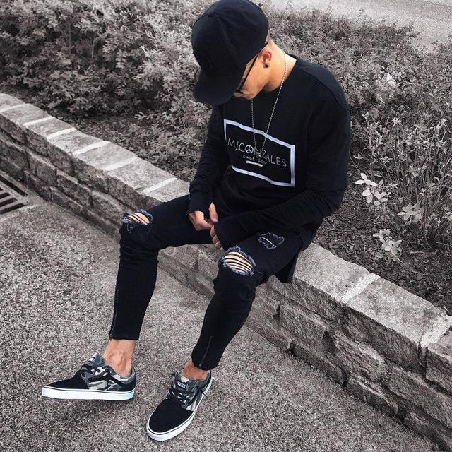 NEW Distressed Skinny Fashion Jeans 2