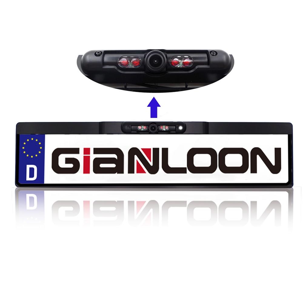 Night Vision IR Car Rear View Camera with European License Plate Camera Frame Car Reverse Camera