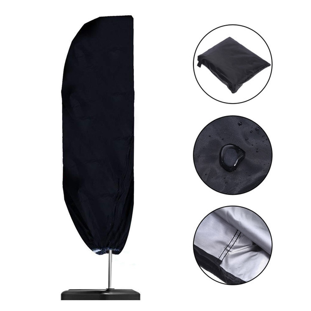 Waterproof Outdoor Sunshade Umbrella Cover Weatherproof 210D Oxford Fabric Garden Cantilever Parasol Rain Cover