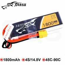 Tattu Lipo Battery 4s 1800mAh xt60 Plug 14.8V Lipo Batteries 45C FPV Drone RC Quadcopter Helicopter Car