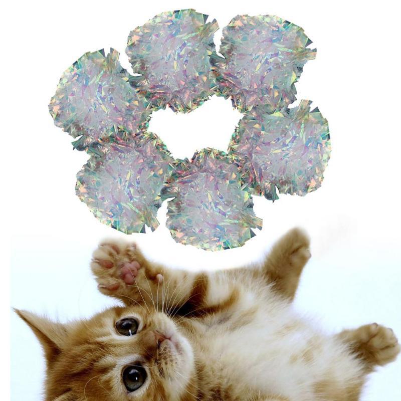 17/4.5cm crinkle bolas gato brinquedos interativos de lã bola mordida resistente brinquedos interativos anel papel pet play brinquedos acessórios do cão