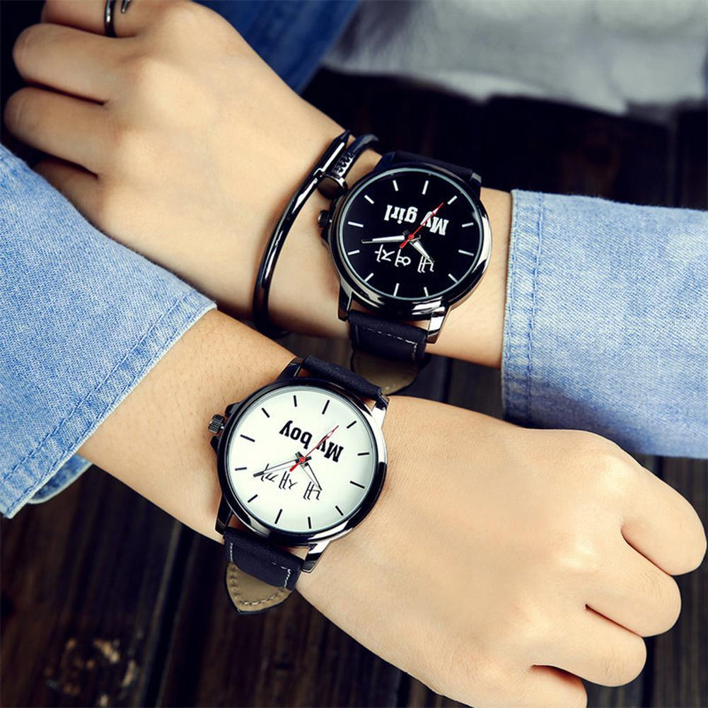 Couples Women Leather Watches Lovers Quartz Watch Men Brand Luxury Wristwatch Female Male Ladies cas