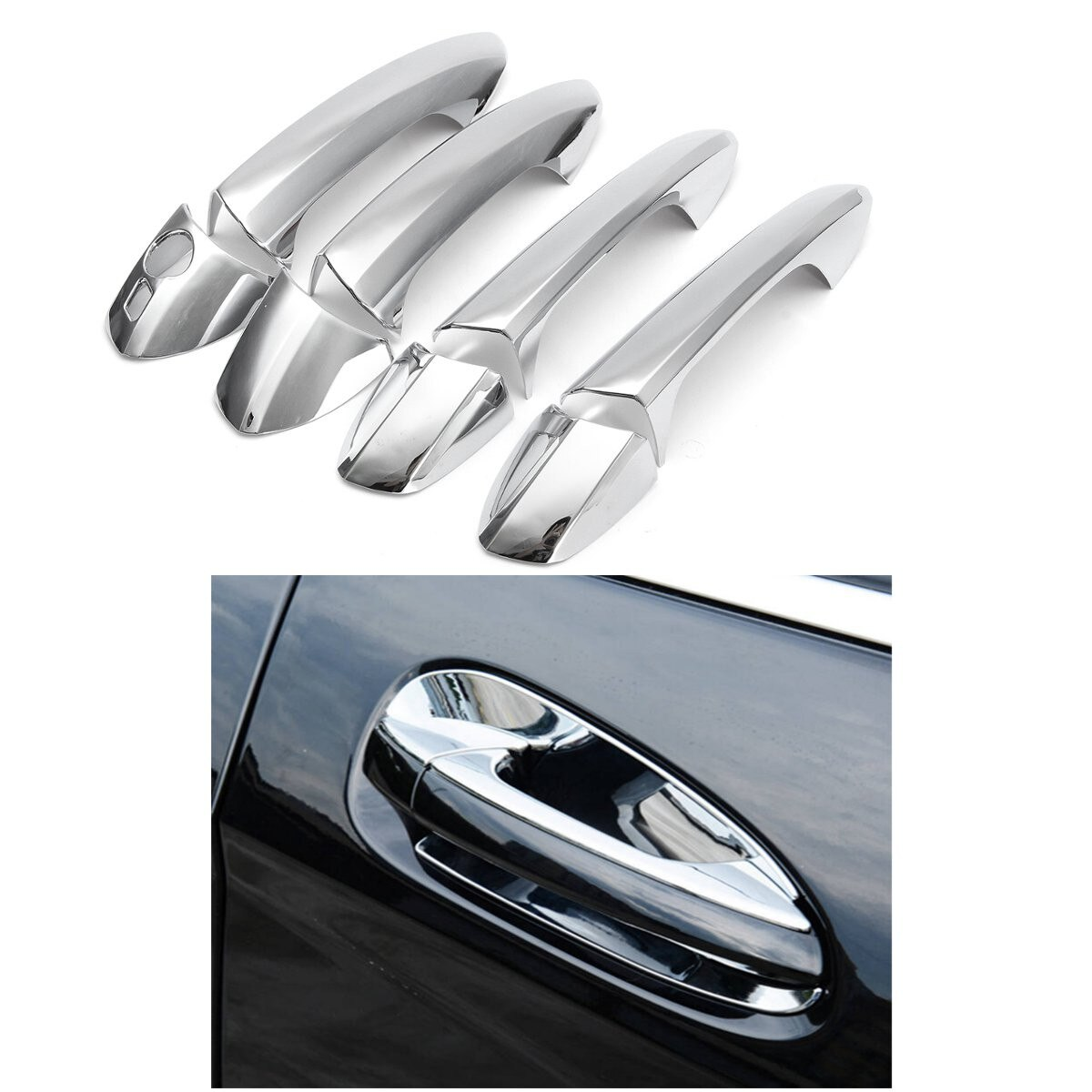 8 шт./компл. ABS хромированные боковые дверные ручки крышки Накладка для Mercedes-Benz B/C/E/GLK/ML/CLA W246 W204 W212 X204 W166 W117