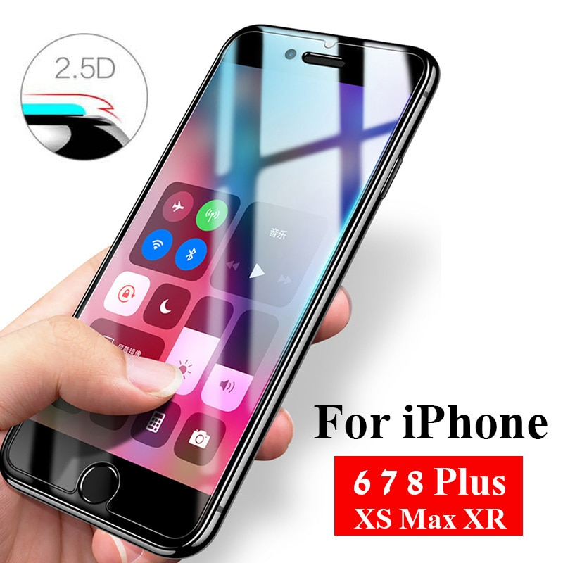 Vidrio templado para Iphone 7, 8, 6 s Plus, 5s, 4s, Xr, Xs, Max, X, 10s, 10r, S5, S6, protección de pantalla Aifion