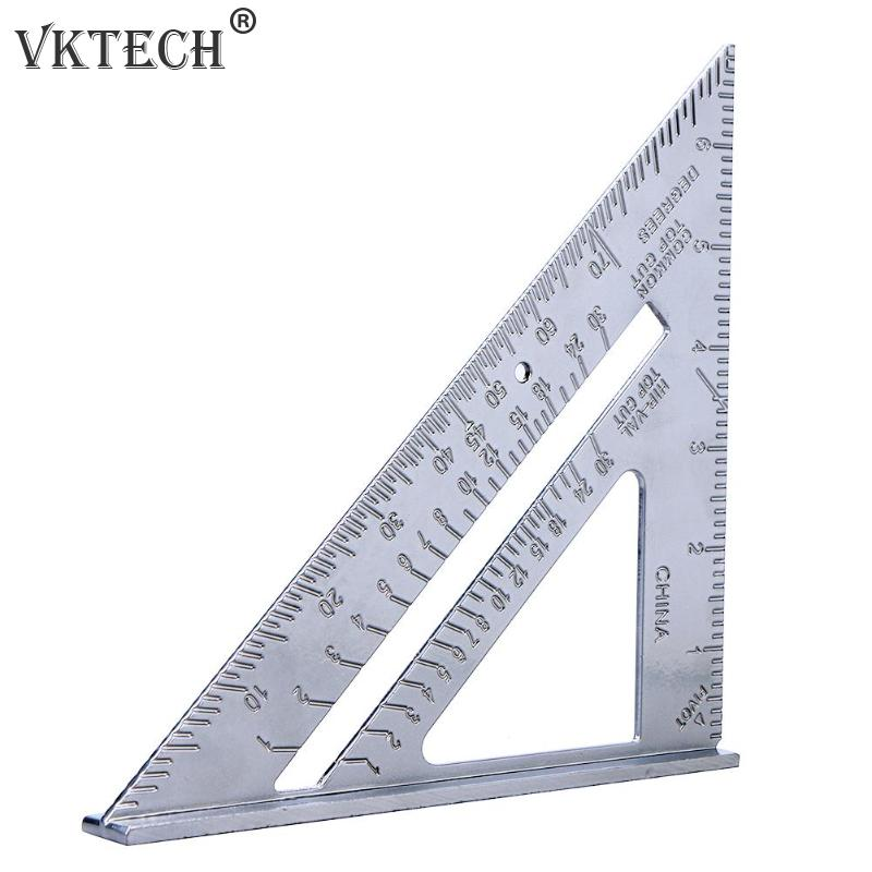 7 pulgadas aluminio velocidad cuadrado triángulo transportador herramienta de medición Multi-función transportador ángulo medición