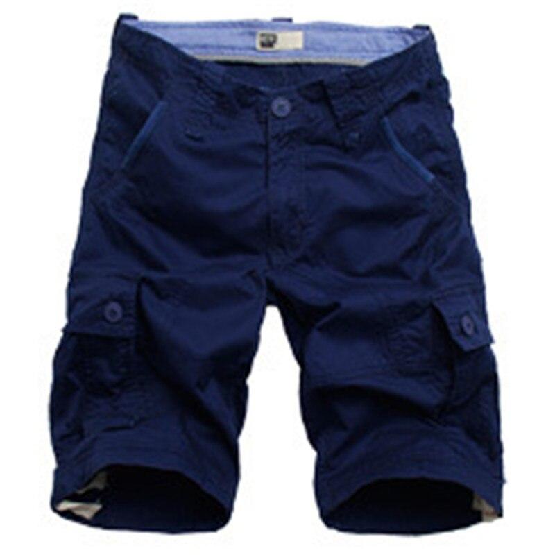 Мужские шорты 2017, модные летние мужские шорты до щиколотки, хлопковые повседневные мужские военные армейские тактические длинные бриджи
