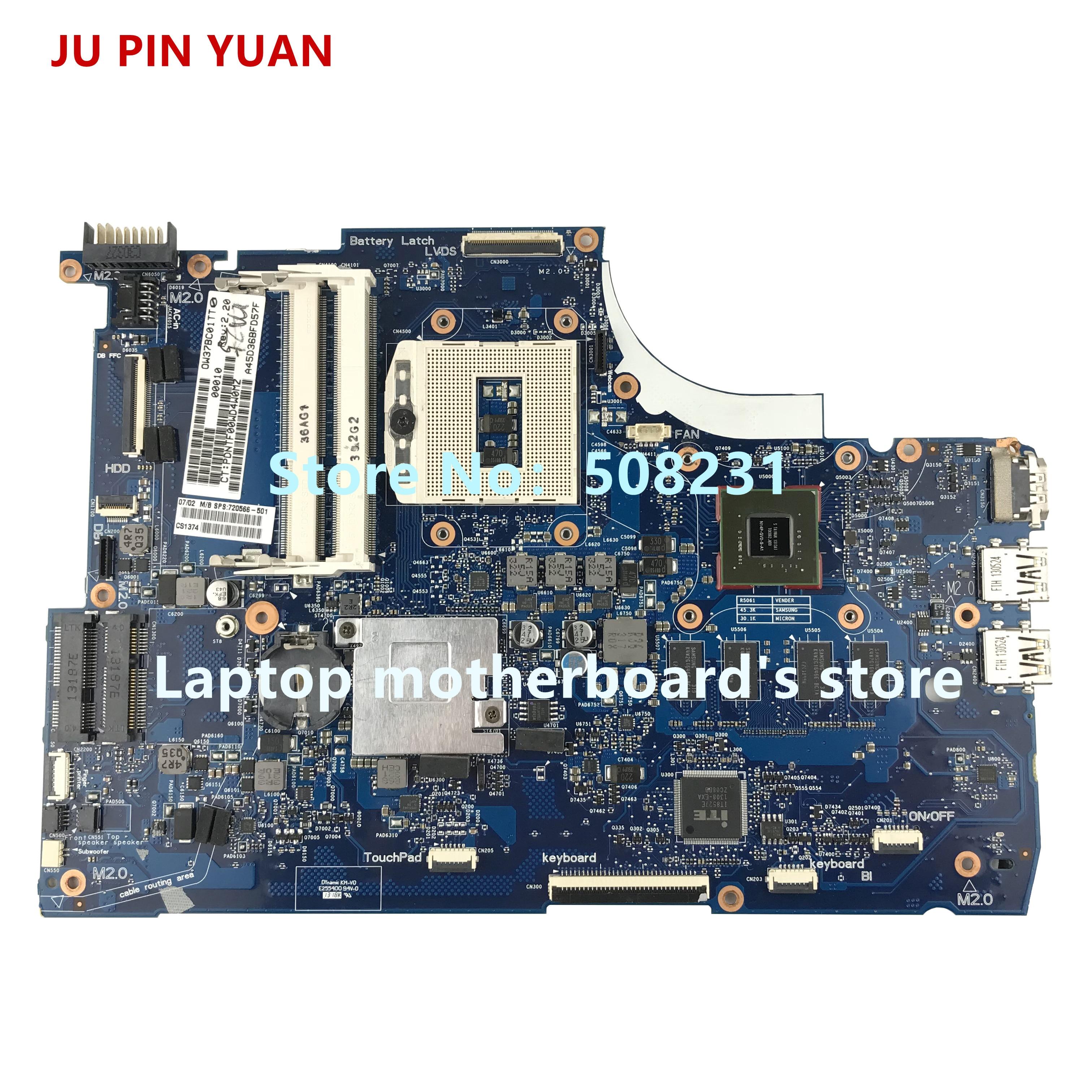 JU PIN YUAN 720566-501 720566-001 720566-601 mainboard for HP ENVY 15-J 15T-J laptop motherboard 740M 2G HM87 PGA947
