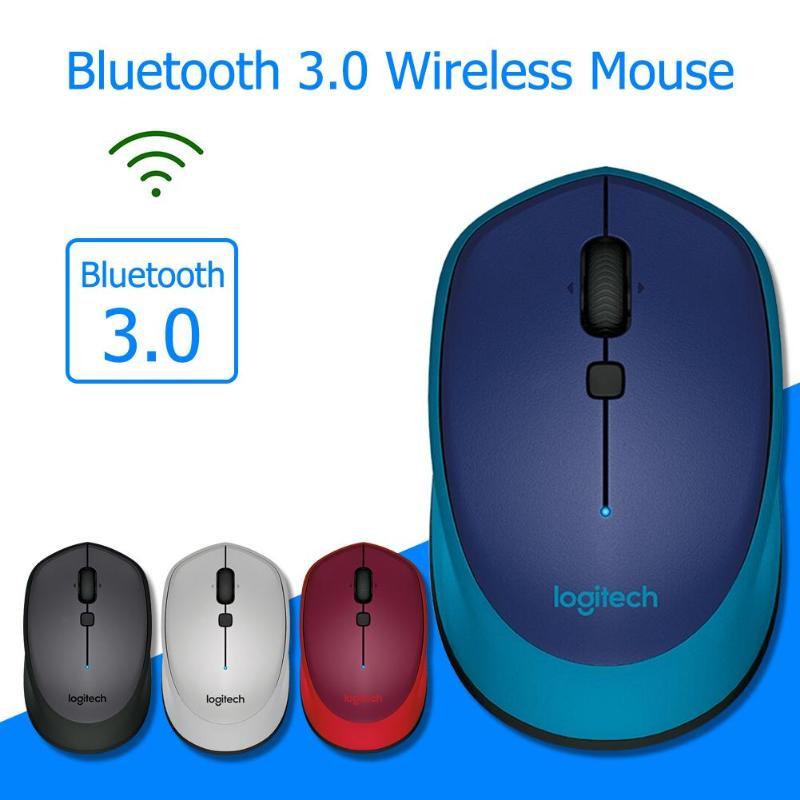 Ratón inalámbrico Logitech M336 Bluetooth 3,0, ratón portátil con forma curva con agarre de goma, diseño compacto para Windows 7/8/10