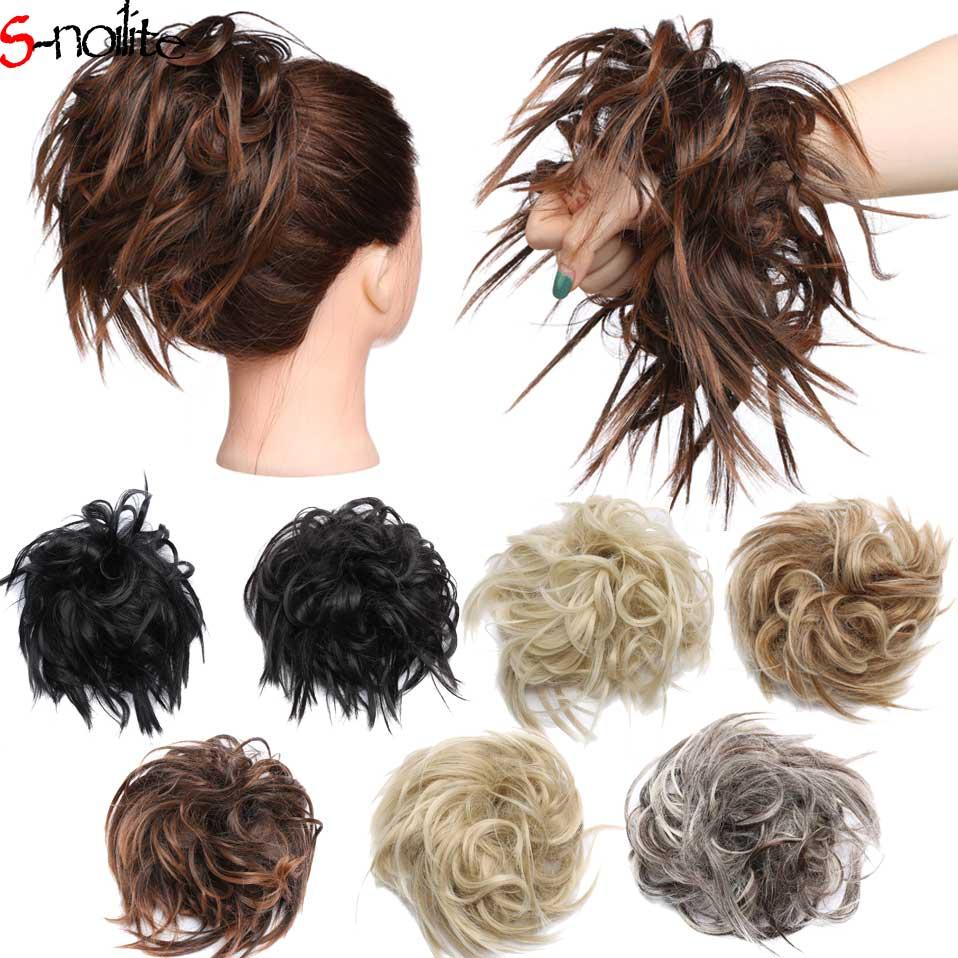 С noilite 45 г Синтетические пряди для наращивания волос женский шиньон с резинкой