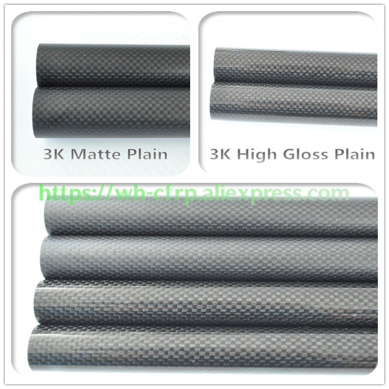 OD 8mm X ID 4mm 5mm X 6mm 7mm X Length 500mm Carbon Fiber Tube (Roll Wrapped)Model , with 100% full carbon 8*4  enlarge