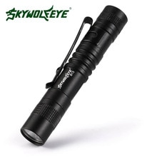 SKYWOLFEYE مصباح ليد جيب 2000 LM Q5 LED الشعلة مصباح محمول الشعلة من 1 * AAA بطارية ل خارج النشاط ليلا