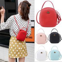 PinShang Mobile Phone Bag Cute Fashion Backpack Pu Leather  shoulder Bag Litchi Grain Texture Mini Messenger Bags Handbag