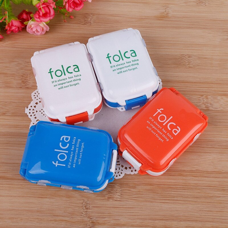Plastic Weekly Folding Medicine Tablet Pill Box Case Portable Candy Vitamin Container Storage Organizer Mini