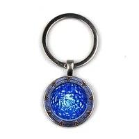 keychain glass time gem keychain key jewelry diy custom photo personality gift keychains gifts for men atlantis