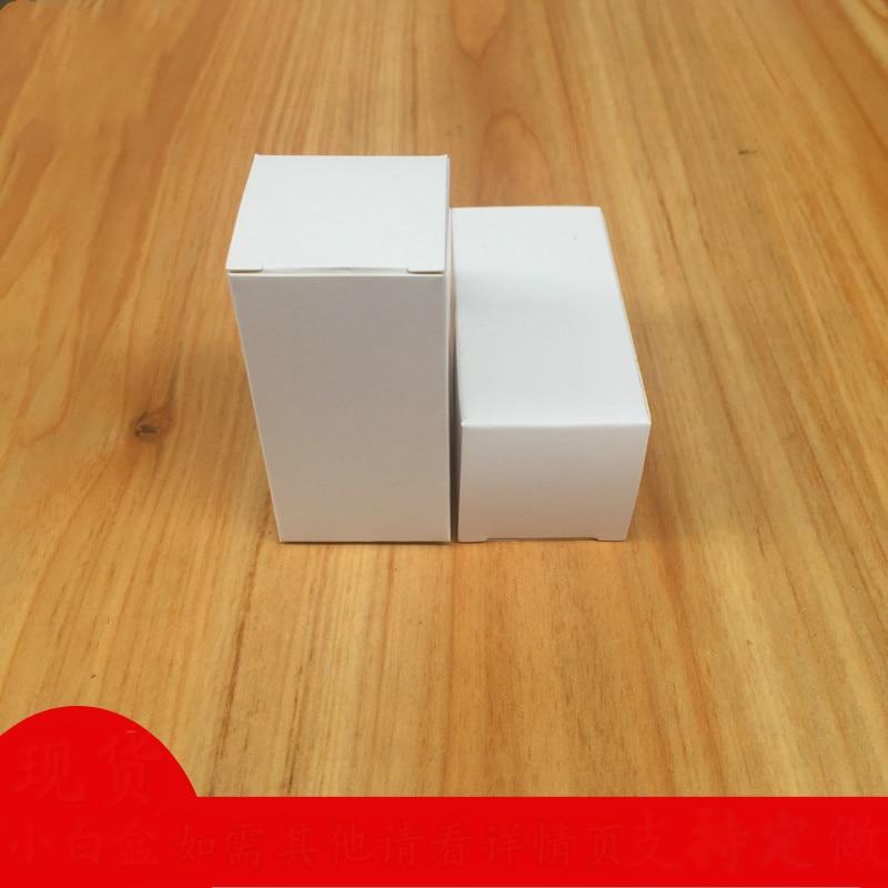 100 pcs/lot 3x3cm Serie Breite Verschiedene Hight Weiße Karte Papier Verpackung Box DIY LOGO Verpackung boxen Lippenstift Parfüm Box