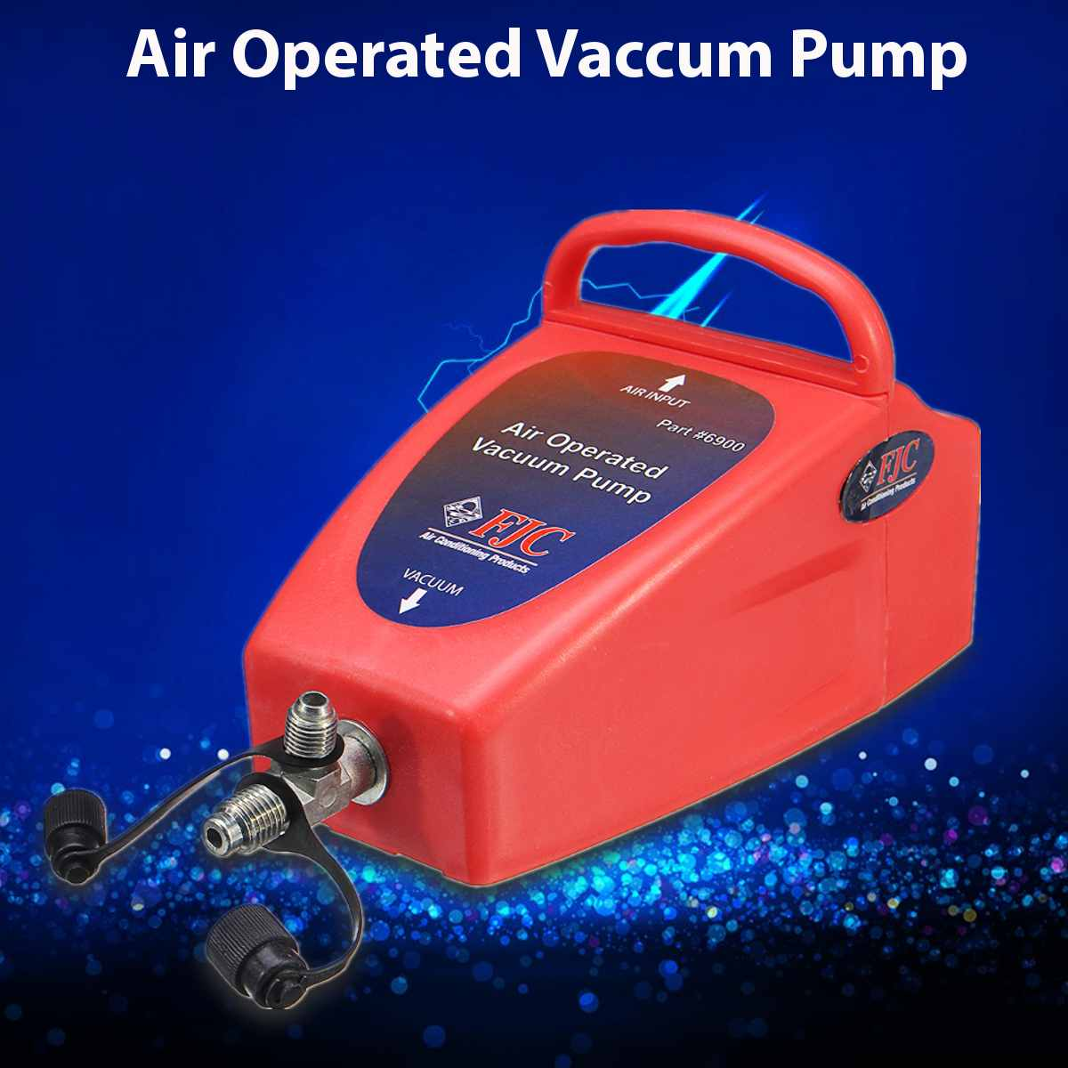 أداة نظام تكييف هواء 4.2CFM A/C مضخة تفريغ تعمل بالهواء للسيارات 1/2